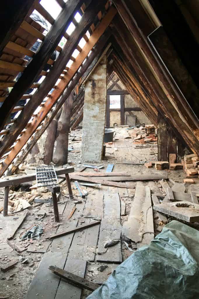 Renovierung des Daches